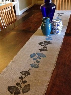Custom Made Burlap Table Runner