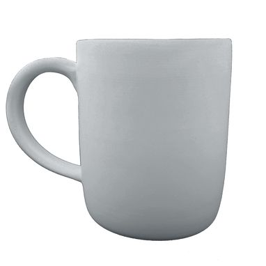 Custom Made Large Matte Porcelain Usa Made Mug- Grey