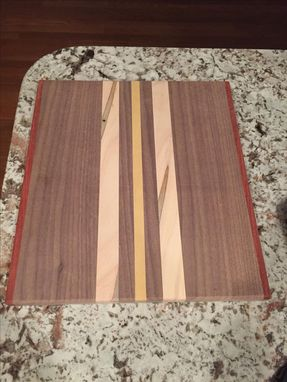 Custom Made Custom Engraved Exotic Wood Cutting Board
