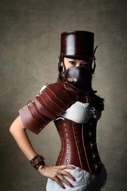 Custom Made Hard Leather Riveted Corset