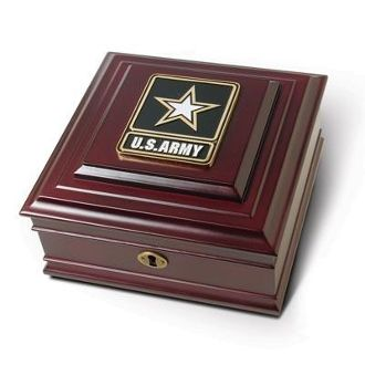 Custom Made Go Army Medallion Desktop Box