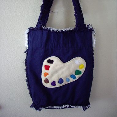 Custom Made Artist Pallet Canvas Tote