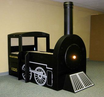 Custom Made Child's Customized Train Bed