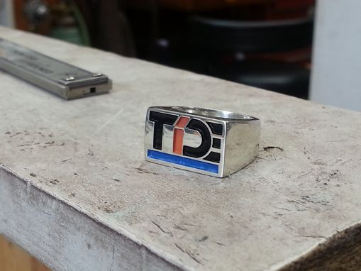 Custom Made A Custom Silver Ring With My Logo On It