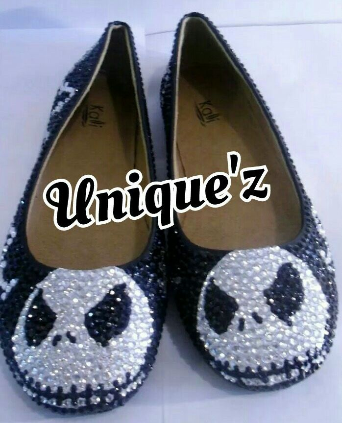 custom made nightmare before christmas flats jack skellington flats - Nightmare Before Christmas Wedding Rings