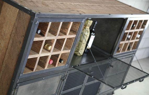 Reclaimed Wood Liquor Cabinet