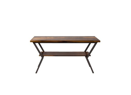 Custom Made Modern Wood And Steel Console Table