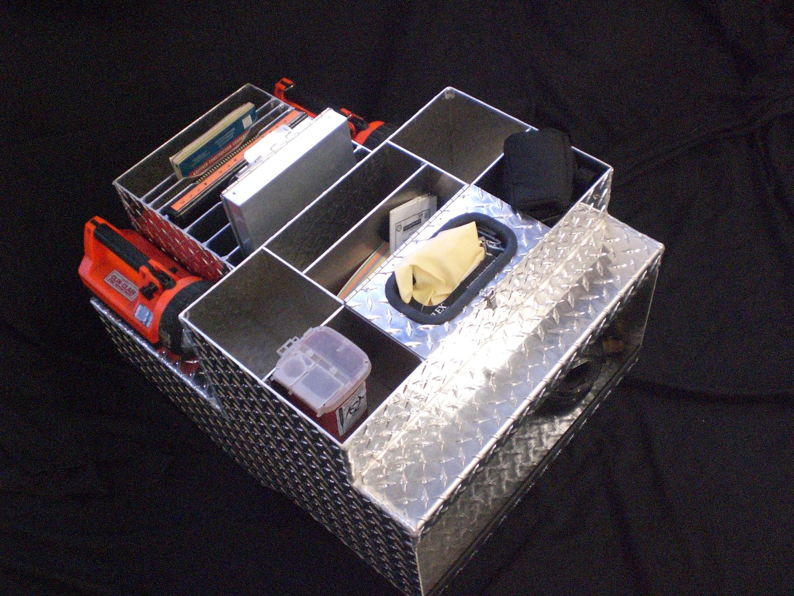 Truck Cab Organizer >> Hand Crafted Aluminum Checkerplate Firetruck Cab Organizer By