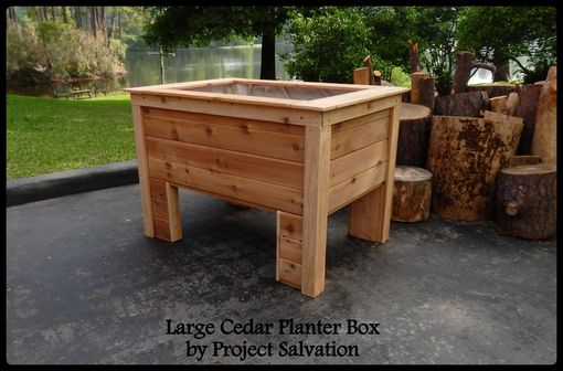 Custom Made Raised Cedar Planter Box