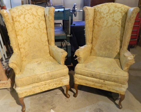 Custom Made Matching Wing Chairs