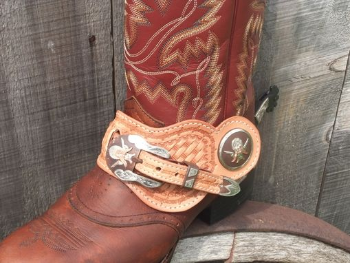 Custom Made Fancy Leather Spur Staps