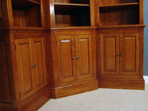 Custom Made Curly Cherry Bookcases