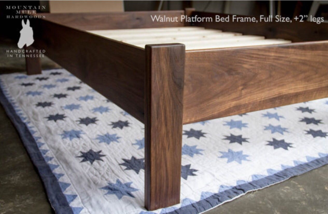 custom made simple queen size platform bed frame hardwoods ash oak maple. buy a custom made simple queen size platform bed frame hardwoods