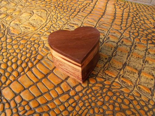 Custom Made Heart-Shaped Wooden Ring Box