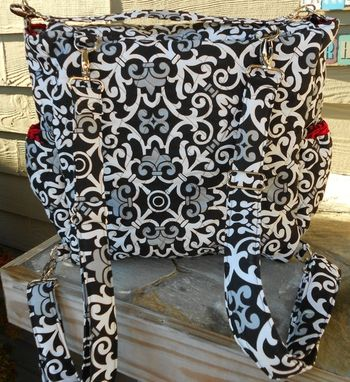 Custom Made Quilted Convertible Diaper Bag With Detachable Changing Pad