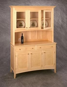 Custom Made Three Door Maple Hutch