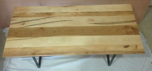 Custom Made Cherry, Maple, And Ash Coffee Table