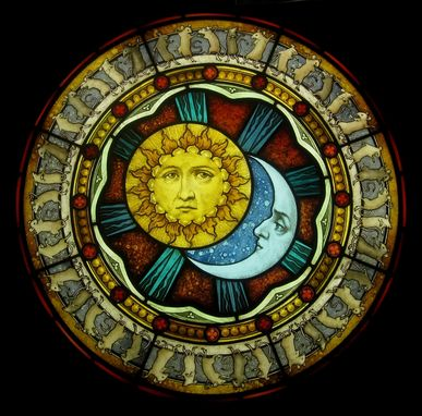 Custom Made Sun, Moon, And Dancing Mice Panel