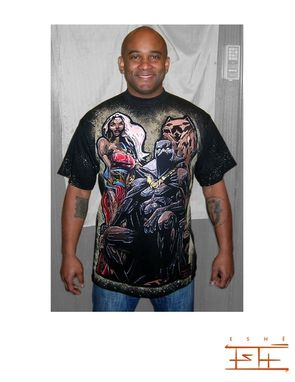 Custom Made Storm And Black Panther Shirt