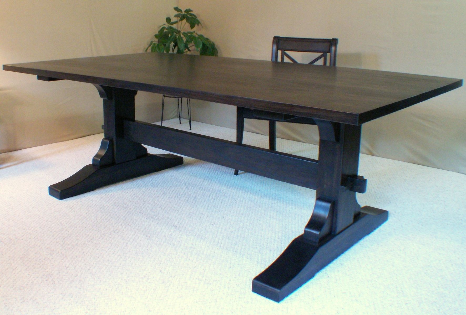 Hand crafted dining table by douglas martin fine for Woodworking dining table