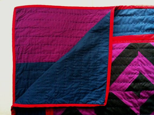 Custom Made Handcrafted Hand Quilted Roman Stripe Quilt
