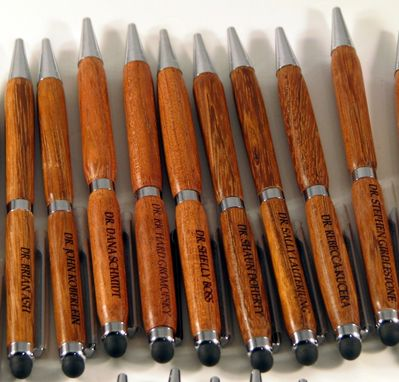 Custom Made Pens That Were Handmade And Then Laser Engraved With Customers Names On Them