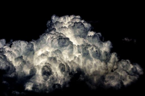 Custom Made Nature Photograph Of White Clouds