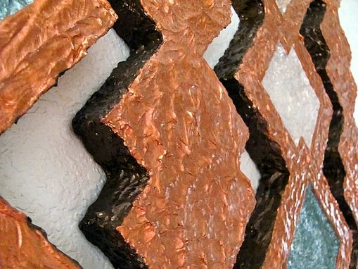Custom Made Copper Diamonds 3d Wall Art