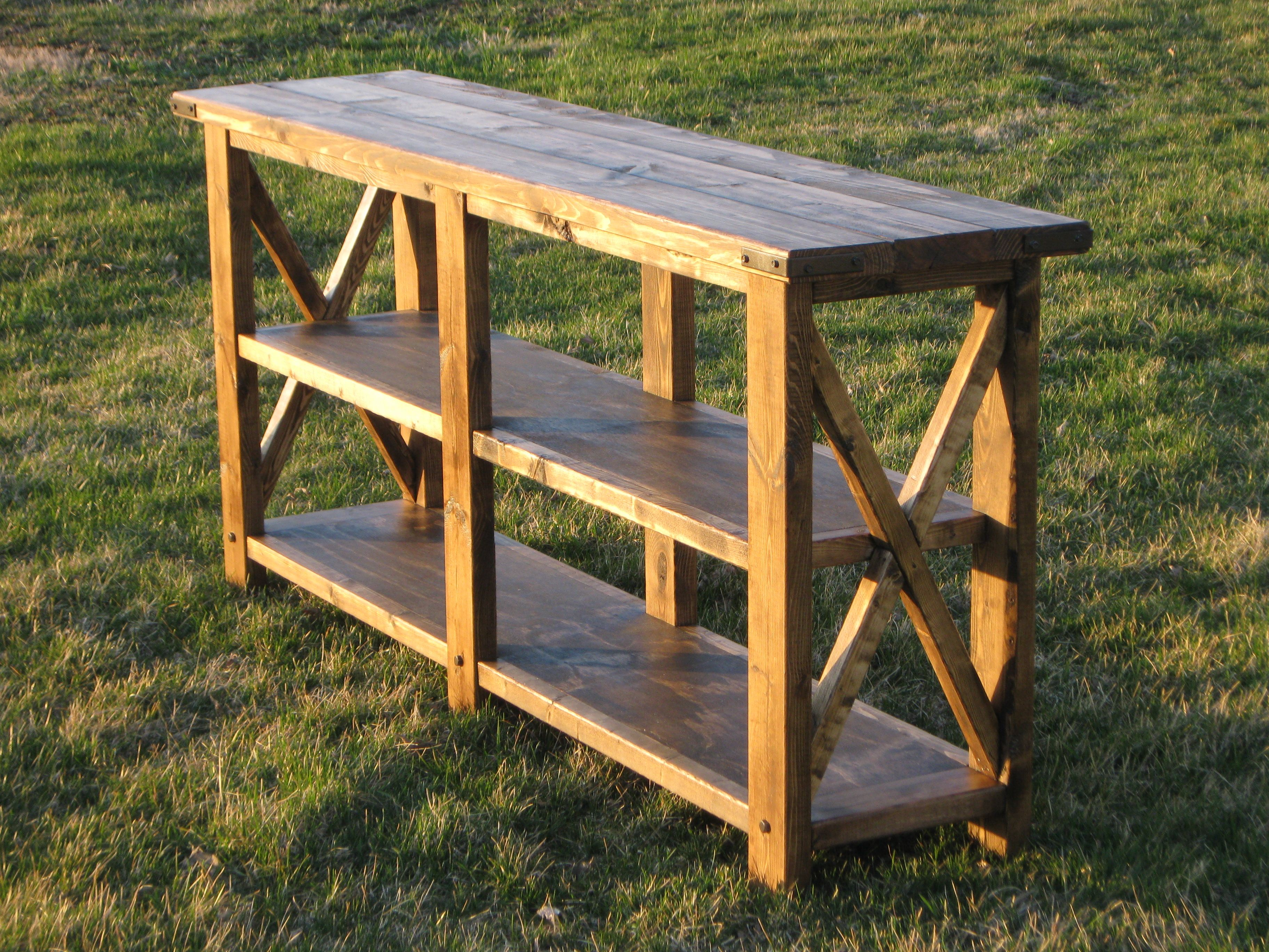 Hand made rustic buffetconsole table by richter ranch designs custom made rustic buffetconsole table geotapseo Choice Image