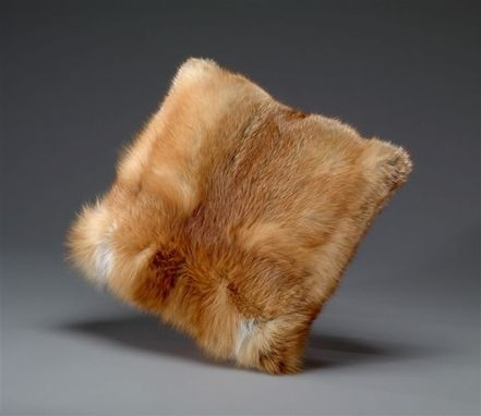 Custom Made Red Fox Fur Pillow