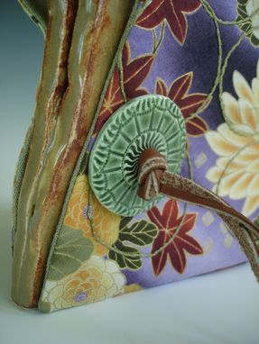 Custom Made Folded Vessel With Chrysanthemum