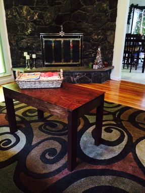 Custom Made Traditional Curly Cherry Coffee Table