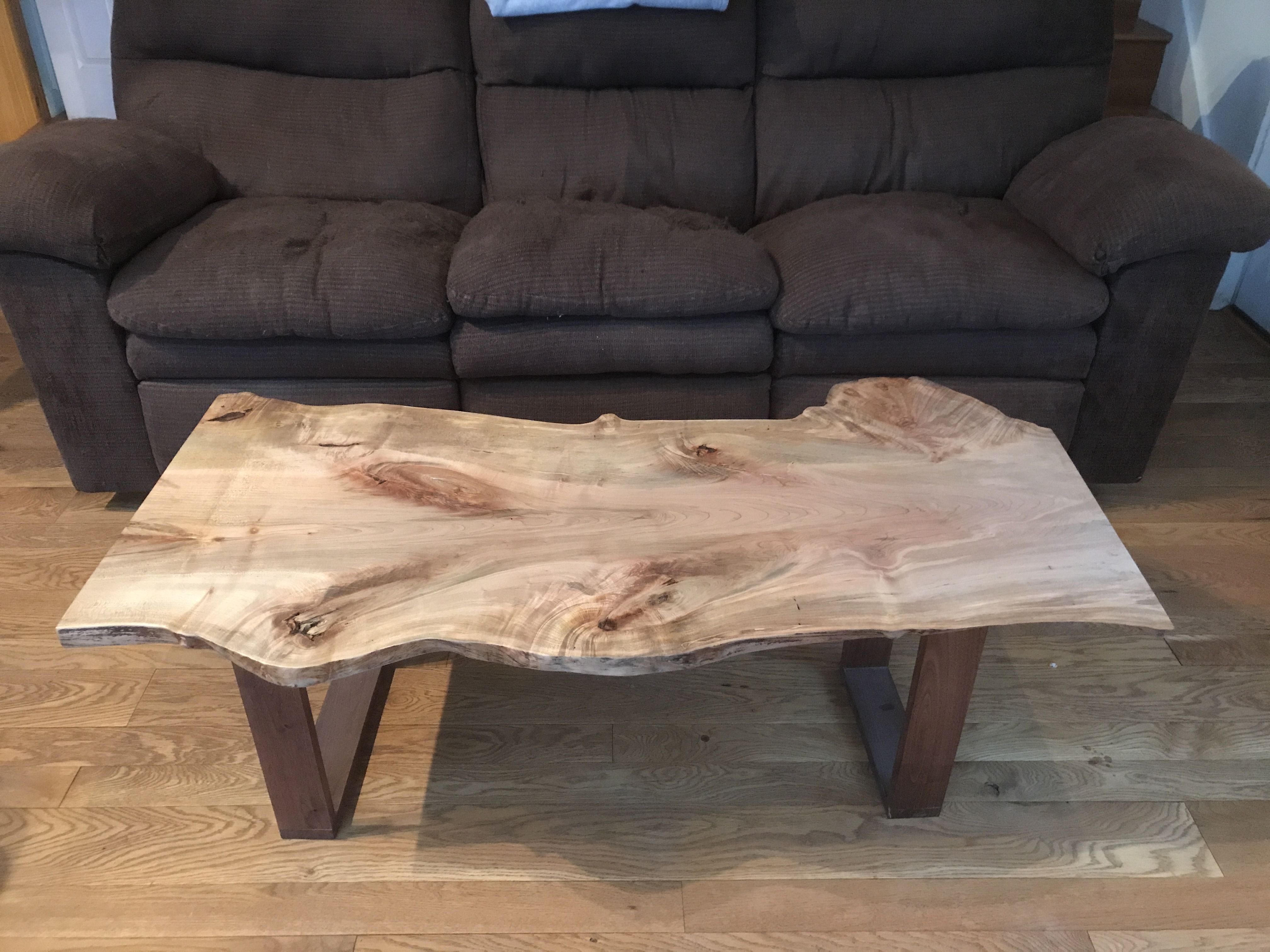 Maple Wood Coffee Table.Live Edge Maple Coffee Table