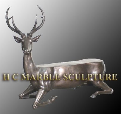 Custom Made Bronze (4) Animal Benches