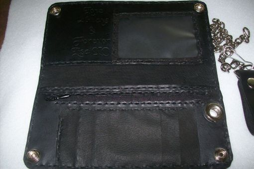 Custom Made Custom Leather Biker/Trucker Wallet