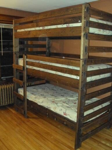 Handmade Triple Twin Bunk Bed By Eagle Woodworking Custommade Com