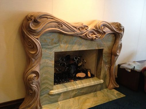 Custom Hand Carved Fire Surround Mantle By Wood Carving