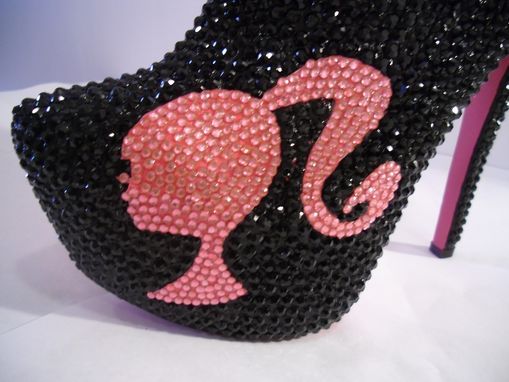 Custom Made Barbie Spiked/Rhinestone Ankle Booties (Bad Barbie)
