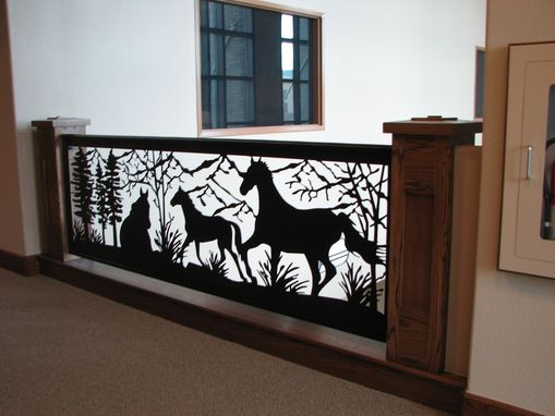 Custom Made Railing Art Is In Style: Horse Mountain Design Balcony