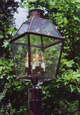 Custom Made Copper Post Lantern