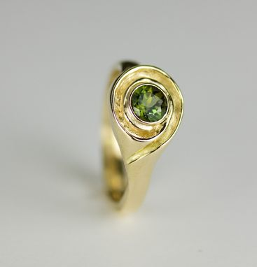 Custom Made Maine Tourmaline Engagement Ring