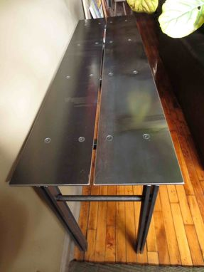 Custom Made Console - Twin Plate Industrial Modern