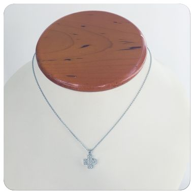 Custom Made Buy A Handmade 14k Women Contemporary Diamond Cross Necklaces And Pendants