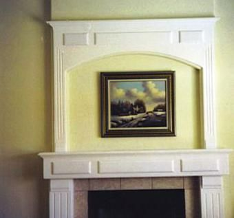 Custom Made Fireplace Mantle & Surround