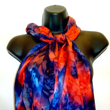 Custom Made Hand Painted Silk Satin Chiffon Scarves