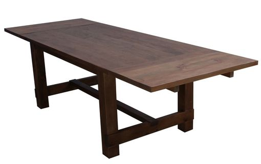 Custom Made New England Farm Table In Reclaimed Wood