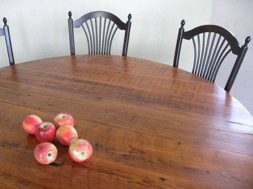 Custom Made Round Barn Wood Trestle Table