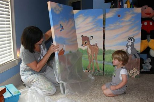 Custom Made Bambi Mural Inspired By Disney By Visionary Mural Co.