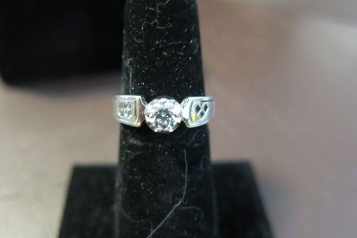 Custom Made Batman Bezel Engagement Ring