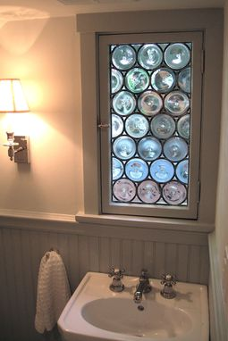 Custom Made Stained Glass Rondel Bathroom Window